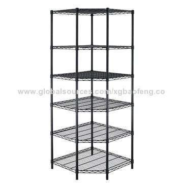 Corner Storage Shelving Rack China Corner Storage Shelving Rack  sc 1 st  Global Sources & NSF 6-Tier Corner Storage Shelving Rack Black | Global Sources