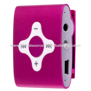 China Flash MP3 Player with Clip, MP3, WMA File Formats and