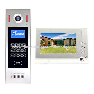 China Door Entry System 42 Wire Video Intercom From Zhuhai
