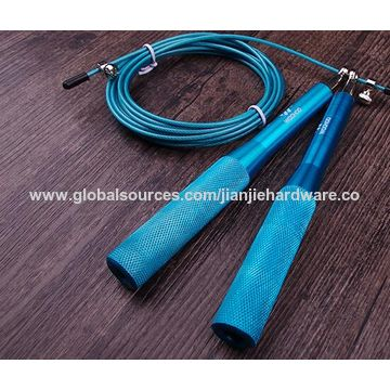 China Metallic skip rope, colorful and light, customized are accepted