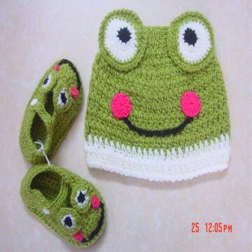 handmade baby shoes with hat good feeling and good for the baby ...