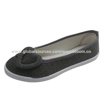 afc8ab3125d China Ladies flat casual canvas loafers on Global Sources