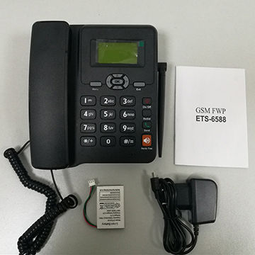 China GSM FWP Single/Dual SIM Fixed Wireless GSM Desk Phone on