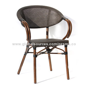 China Indoor And Outdoor Use Leisure Textilene Cafe Armchair