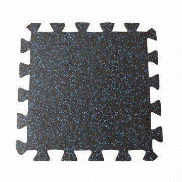 Interlocking Rubber Flooring Tiles Made Of 100 Recycled Rubber