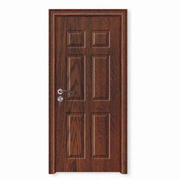 China Waterproof Interior Door With Heat Insulation And Non Deforming Made Of Melamine Or
