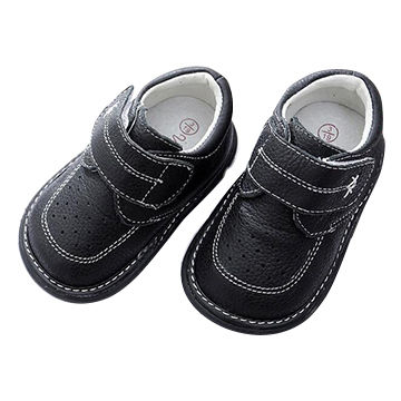 Baby boy squeaky shoes,genuine leather