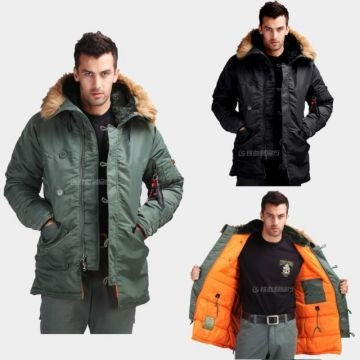 Seibertron Slim Fit N-3B Parka Men's Winter Outdoor Parka Military ...