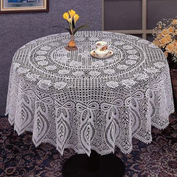 Pvc Crochet Round Tablecloth In Fashionable Design Global Sources