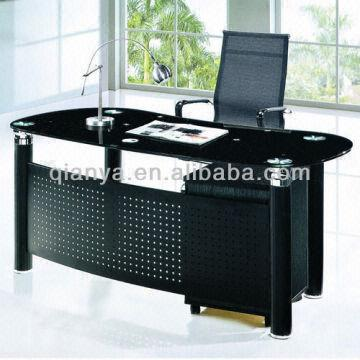 China 1.modern Metal Tempered Glass Boss/office Table/desk 2.paint