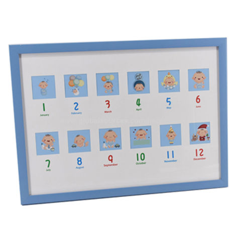 China Fashion Design Ps Baby Photo Frame With 12 Openings For Home Decoration