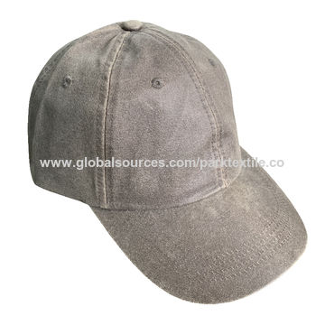 207c4cf5eda5e China Sports cap made with washed suede fabric