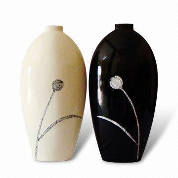 Tulip Flowers Black And White Ceramic Vases Available In Different