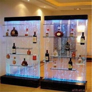 China Custom Designed Modern Acrylic Wine Bottle Display Cabinet
