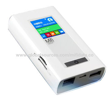 4G LTE router Mifi with power bank Mobile wifi router power