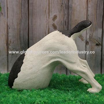 China Polyresin Digging Dog Garden Ornament For Outdoor Decoration Oem Designs Welcomed