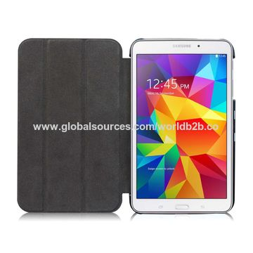 innovative design bdb61 df824 Leather smart cover for Samsung tab 4