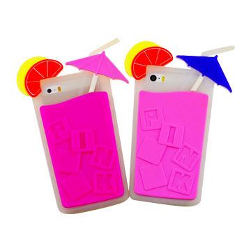Pink Summer Umbrella Lemon Juice Cup Drink Bottle Candy Colors 3D
