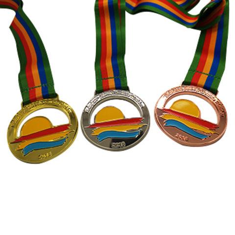 China Sports medal zinc alloy, soft enamel colors,gold