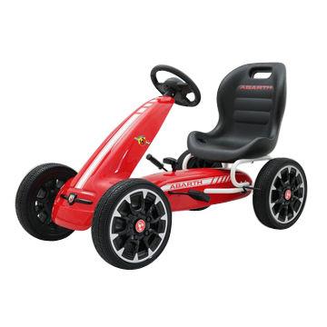 china abarth licensed pedal go kart 2018 kids go kart ride on car