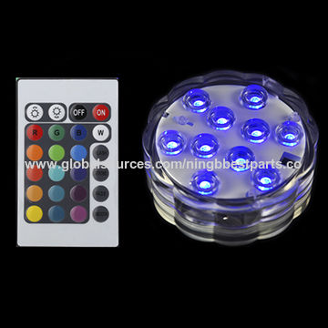 China Led Lights Battery Operated Rgb Color Changing Party Light With Remote Control For Vase Base