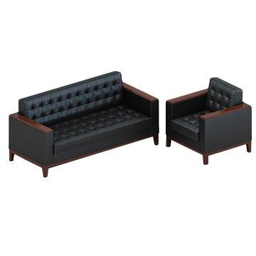 ... China 3 People Seat Modern PU Leather Office Sofa Sets