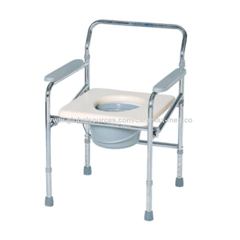 Astonishing China Steel Folding Commode Chair On Global Sources Theyellowbook Wood Chair Design Ideas Theyellowbookinfo