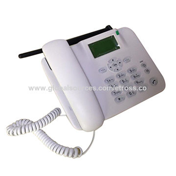 China F316 quad band 2G GSM landline phone with SIM card
