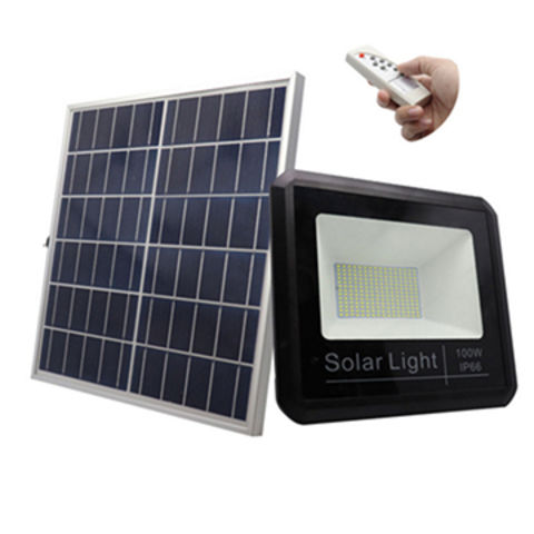 China No Electricity Wiring 100w Ip66 Solar Flood Light With Nano Cup For Outdoor