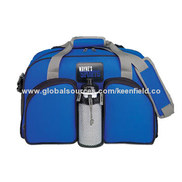 China Gym Bag With Water Bottle Holder Lightweight