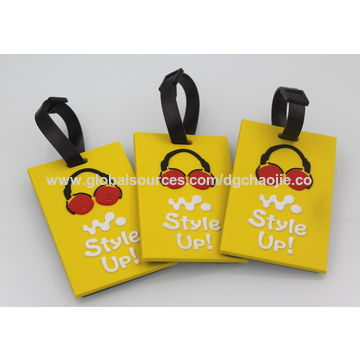 China luggage tags from dongguan trading company dongguan peishun china business card standard size pvc plastic wholesale luggage tags reheart Image collections