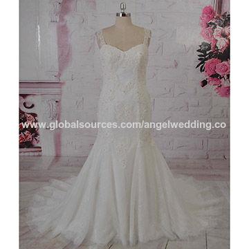 Mermaid wedding dress, French lace, fashion design, keyhole back ...