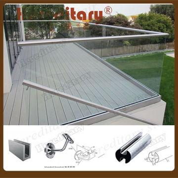 Verja De Cristal Frameless De La Terraza De Aluminio