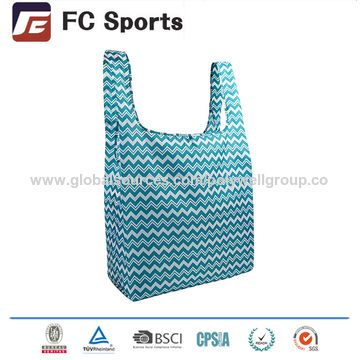 0a8fd5e54 ... China Foldable Reusable Grocery Bags Folding Shopping Tote Bag Fits in  Pocket