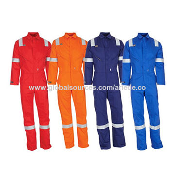 caa73dba9135 Resistant Cotton Coverall · Orange Red and Navy Blue FRC Clothing Flame ...