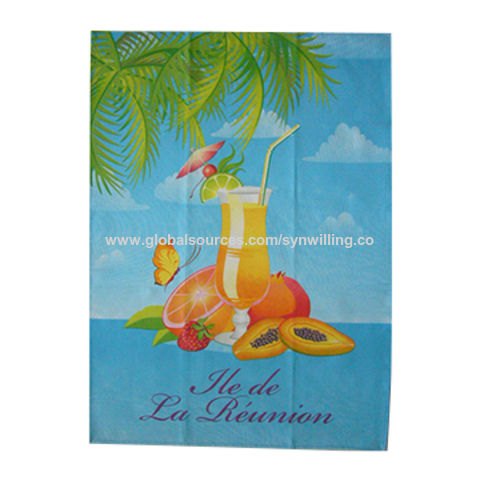105b8ade78 China Silkscreen printed customized cotton twill fabric souvenir tea towel  ...