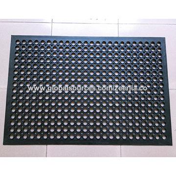 China Black Rubber Anti Fatigue Mat