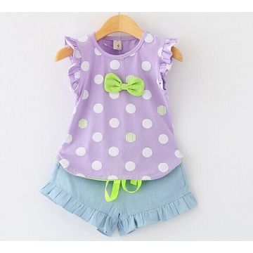 Hong Kong SAR Girls' cotton suits,lovely model,soft & comfortable,accept small order,300pcs for wholesale price
