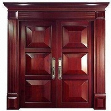 ... China Luxury and durable exterior solid wood door & Luxury and durable exterior solid wood door moth proofing moisture ...