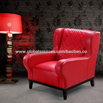 Red Antique Leather Sofa Chair China Red Antique Leather Sofa Chair