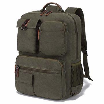 89bd3db7cc68 ... China Functional Backpack Vintage Canvas Laptop Backpacks unisex  Rucksack Bookbags ...