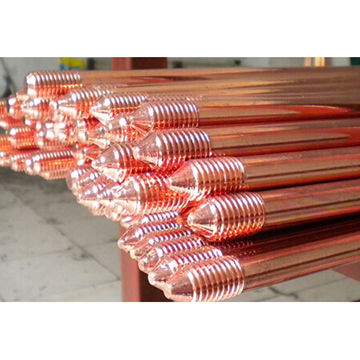 Copper-bonded grounding rod | Global Sources
