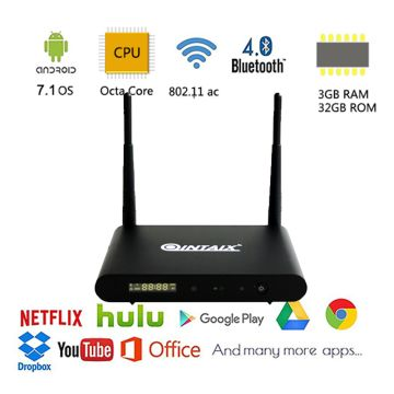 Android TV Box with Google Chromecast with Amlogic S912