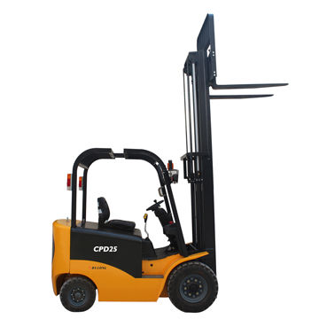 2000kg Electric Forklift, Battery-operated, Solid Tires
