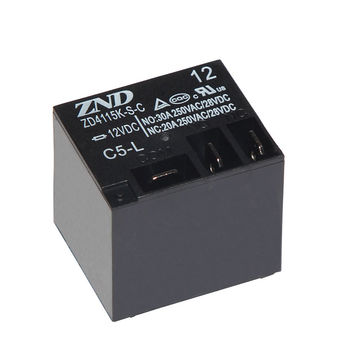 China ZD4115K/T91 Electromagnetic Relay C5L/12V/30A with 5 Pins