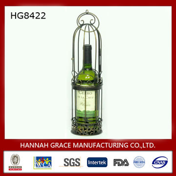 Metal Bird Cage Single Wine Bottle Holder | Global Sources