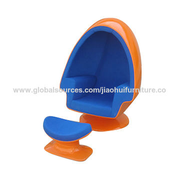 China Classic Lounge Chair Fiberglass Egg Chair Oval Egg Pod Chair Stereo  Lounge Chair With Speakers ...