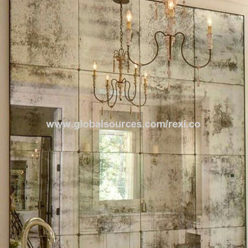Design Antique Mirror Glass Wall, What Is Antique Mirror