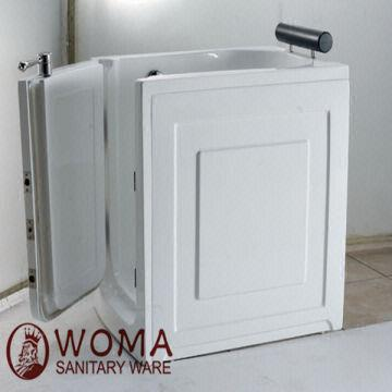 Walk In Tub Size:1250*800*1100mm Easy Walk In Tub Bathtub For Old People  And Disabled People