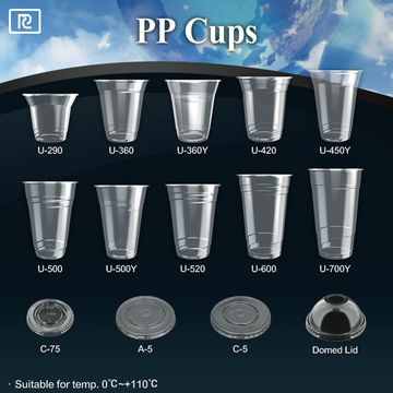 PP 24oz 700ml disposable plastic coffee cup